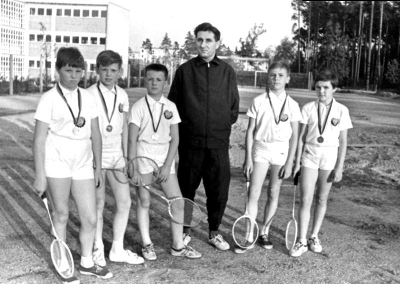 Badmintonspieler in der DDR 60er Jahre