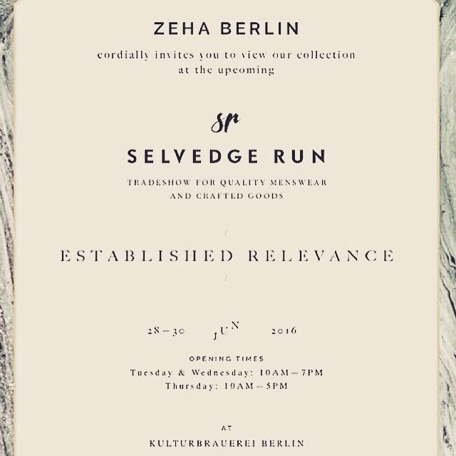 Zeha bei Selvedge Run Jun 2016