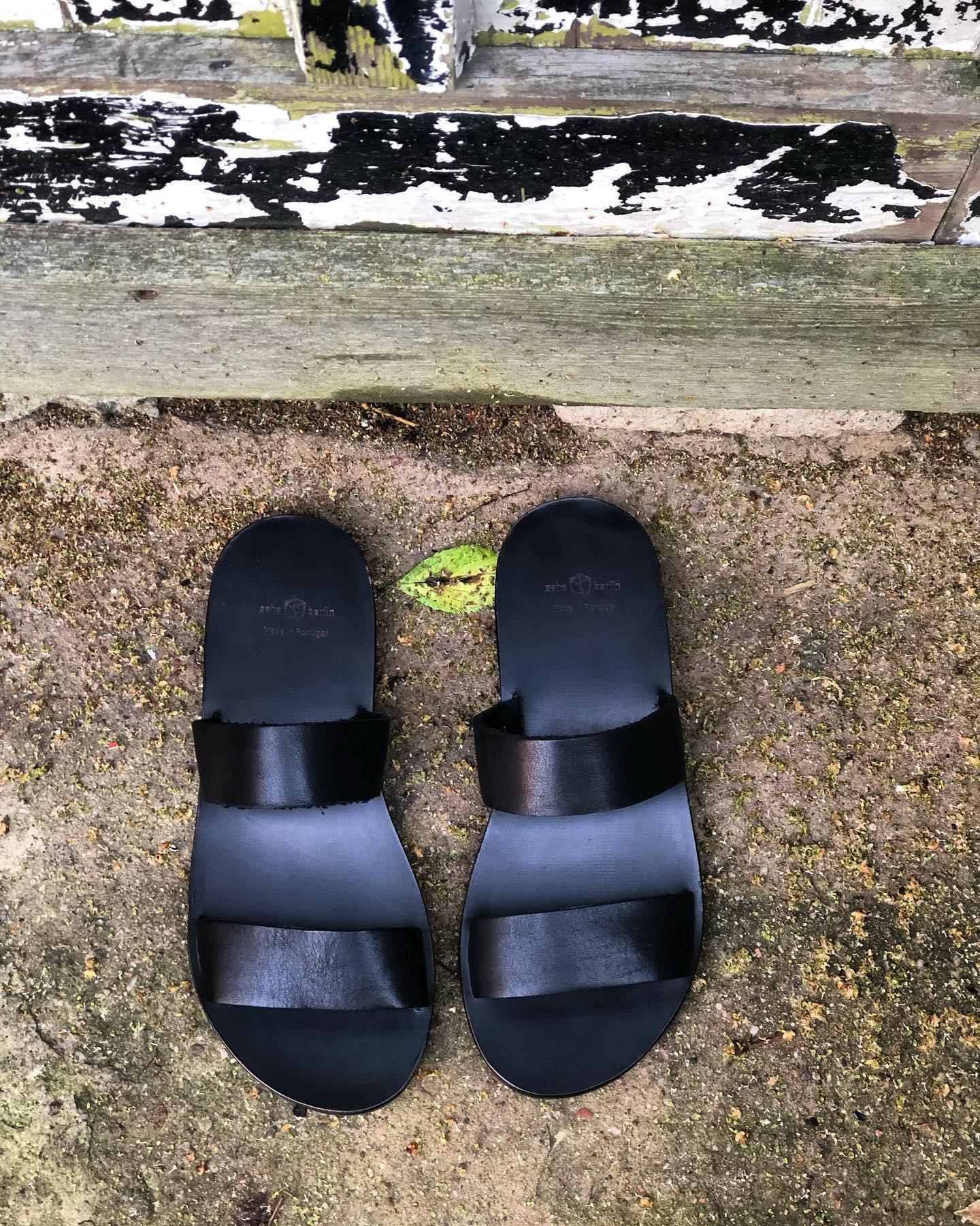 Männer Sandalen aus Leder schwarz Zeha Berlin Summer 2020