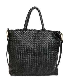 Hand braided shoulder bag