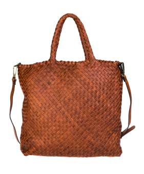 Hand braided shoulder bag