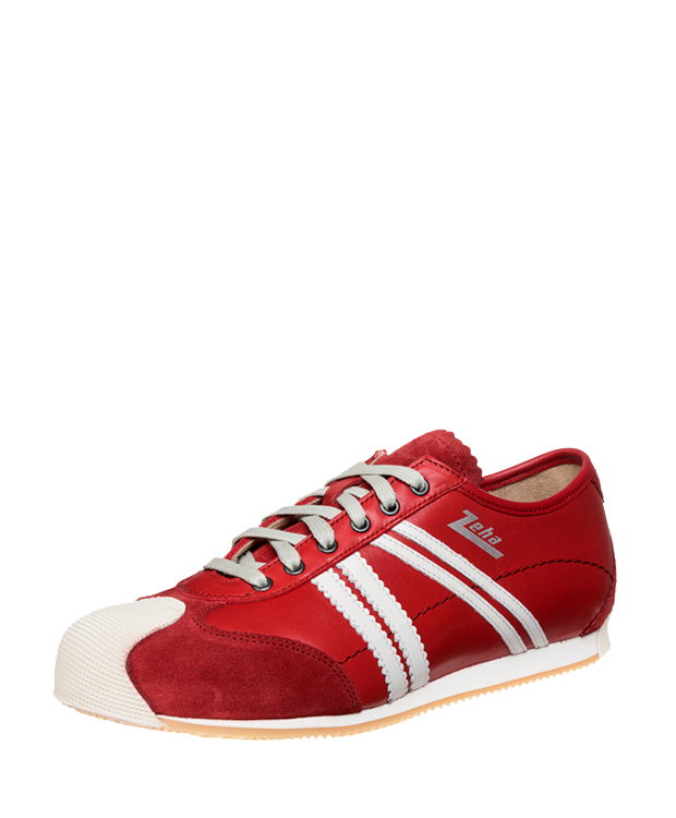 ZEHA BERLIN Streetwear Handballer calf leather Unisex red / cream