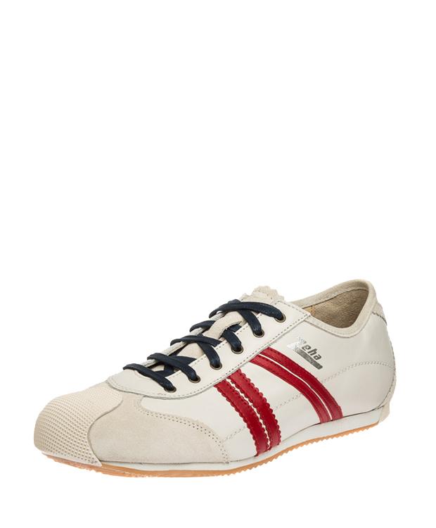 ZEHA BERLIN Streetwear Handballer calf leather Unisex cream / red / beige