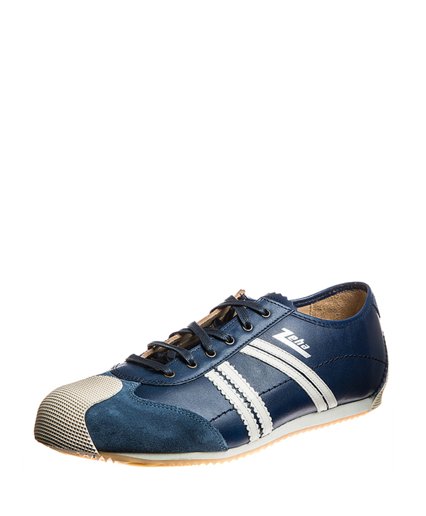 ZEHA BERLIN Streetwear Handballer Rindsleder Unisex blau / cremeweiß