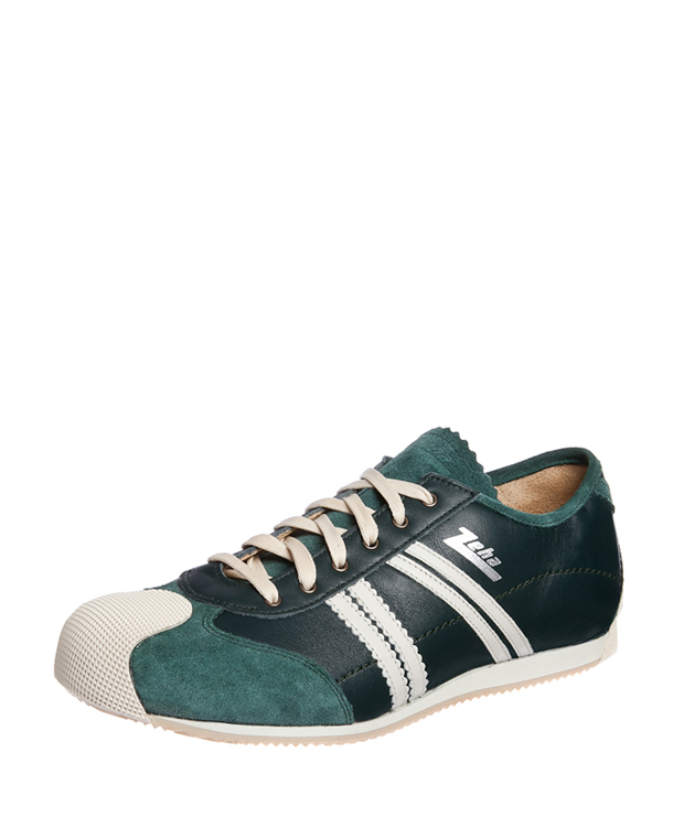ZEHA BERLIN Streetwear Handballer calf leather Unisex dark green / cream