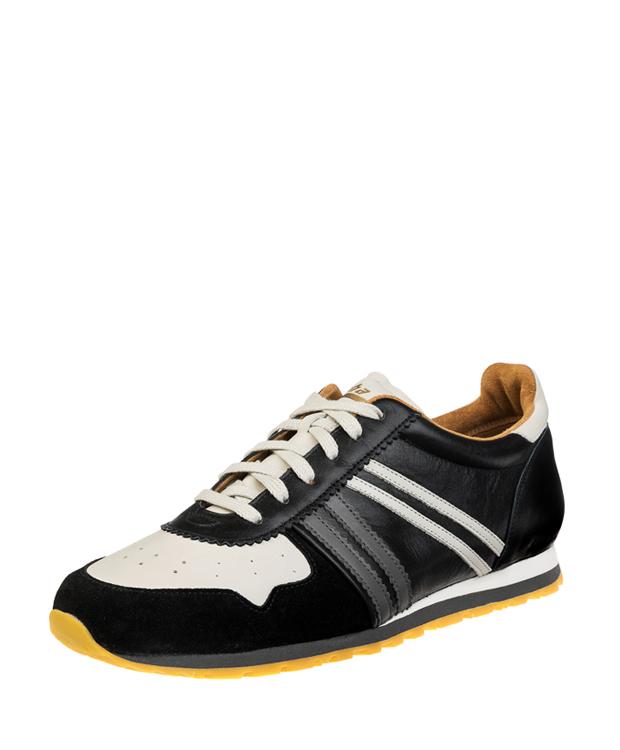 ZEHA BERLIN Streetwear Marathon Kalbsleder Unisex schwarz / cremeweiß / grau