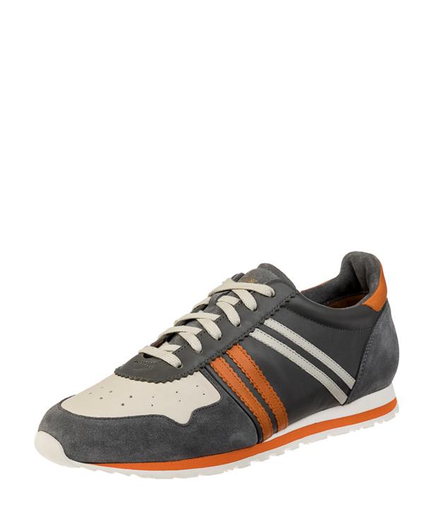 ZEHA BERLIN Streetwear Marathon Kalbsleder Unisex grau / cremeweiß / orange