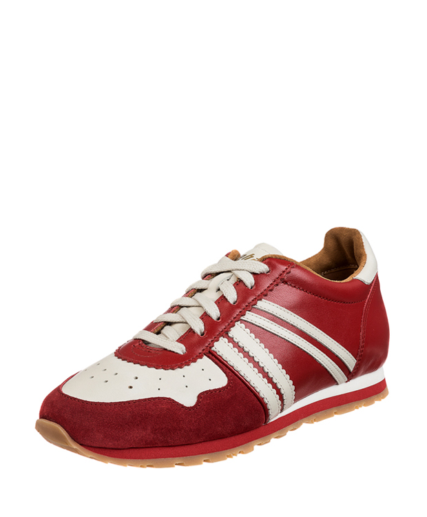 ZEHA BERLIN Streetwear Marathon calf leather Unisex red / cream / red
