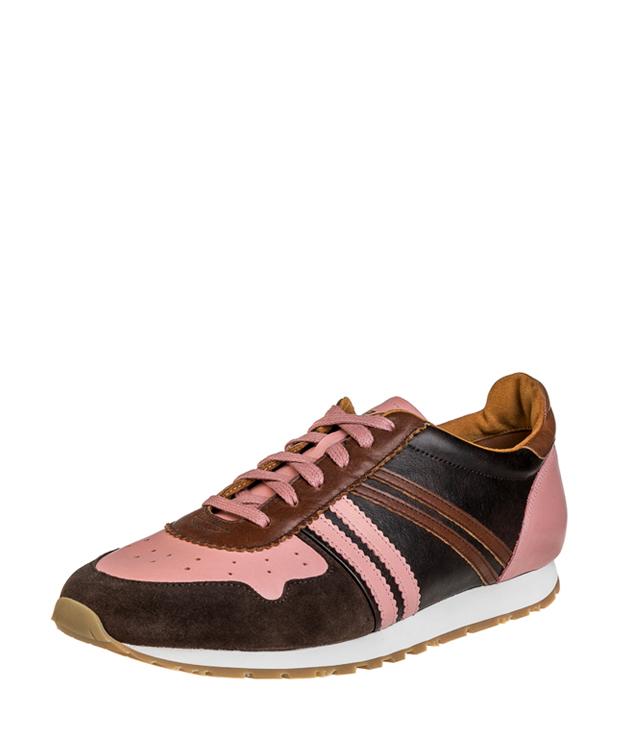 ZEHA BERLIN Streetwear Marathon calf leather Unisex brown / pink / cognac