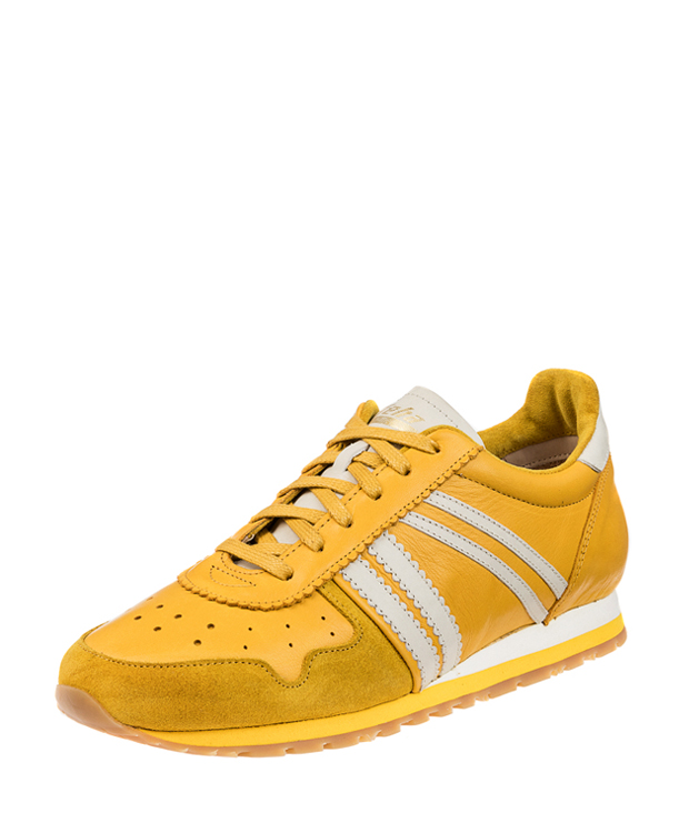 ZEHA BERLIN Streetwear Marathon calf leather Unisex yellow / cream / yellow