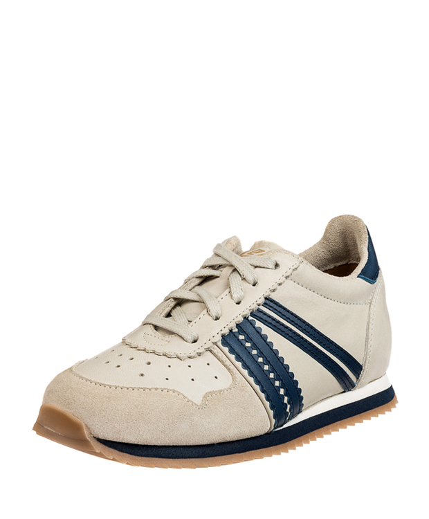 ZEHA BERLIN Streetwear Marathon calf leather child medium blue / cream