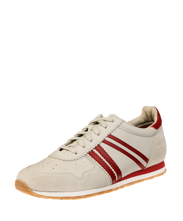 ZEHA BERLIN Streetwear Marathon calf leather Unisex cream / red / beige