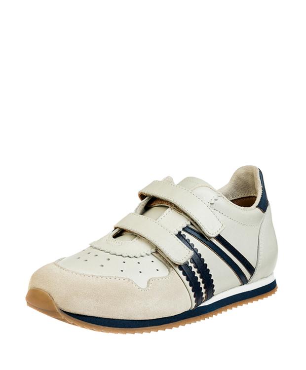 ZEHA BERLIN Streetwear Marathon calf leather child red / cream / brown