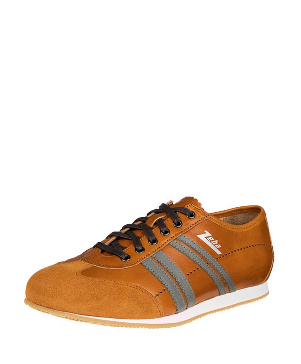 ZEHA BERLIN Streetwear Klassiker calf leather Unisex cognac / grey / cognac