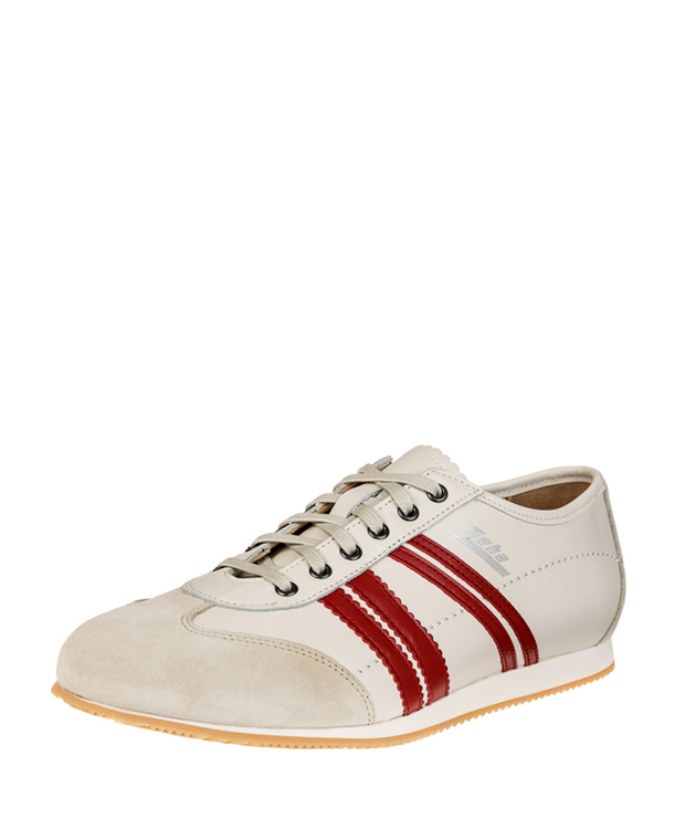 ZEHA BERLIN Streetwear Klassiker calf leather Unisex cream / red / beige