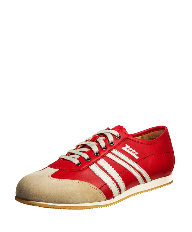 ZEHA BERLIN Streetwear Klassiker calf leather Unisex red / cream / beige