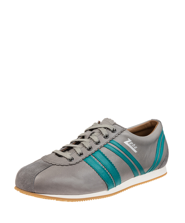 ZEHA BERLIN Streetwear Olympia calf leather Unisex grey / ocean blue