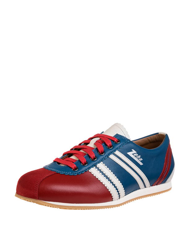 ZEHA BERLIN Streetwear Olympia calf leather Unisex light blue / red / cream