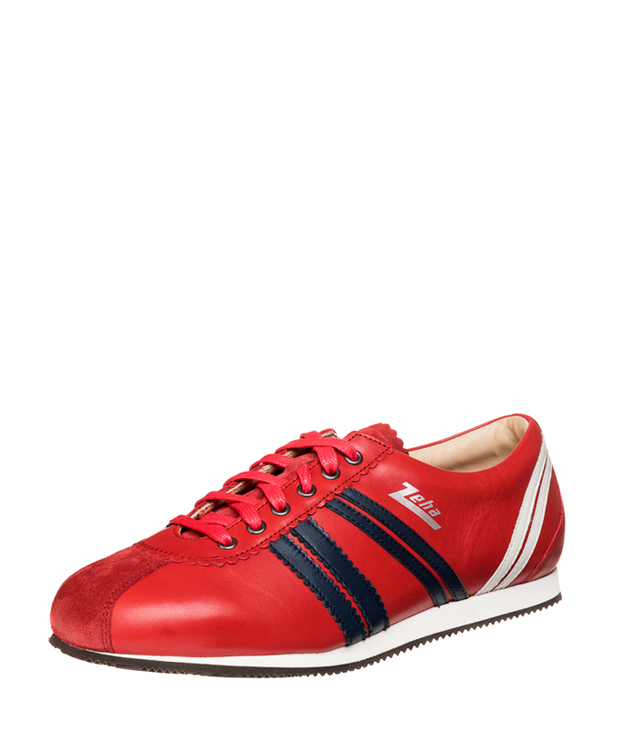 ZEHA BERLIN Streetwear Olympia calf leather Unisex red / blue / cream