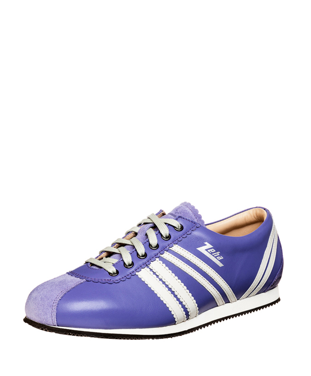 ZEHA BERLIN Streetwear Olympia calf leather Unisex violet / cream
