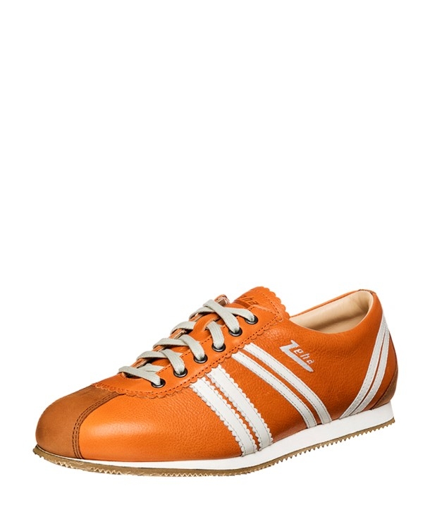 ZEHA BERLIN Streetwear Olympia calf leather Unisex orange  / cream