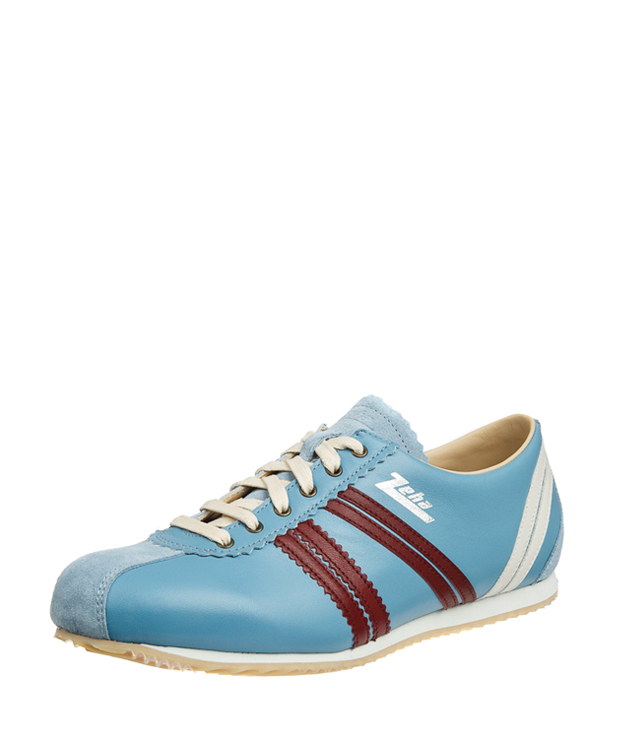 ZEHA BERLIN Streetwear Olympia calf leather Unisex sky blue / bordeaux / cream