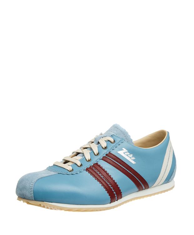 ZEHA BERLIN Streetwear Olympia Kalbsleder Unisex hellblau / bordeaux / cremeweiß