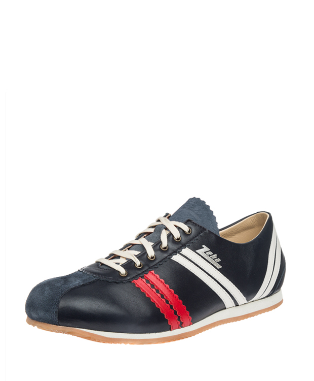 ZEHA BERLIN Streetwear Olympia calf leather Unisex blue / red / cream