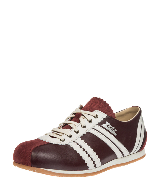 ZEHA BERLIN Streetwear Olympia calf leather Unisex bordeaux / cream