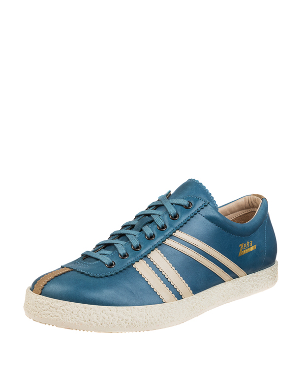 ZEHA BERLIN Streetwear Rekord calf leather Unisex cyan / cream