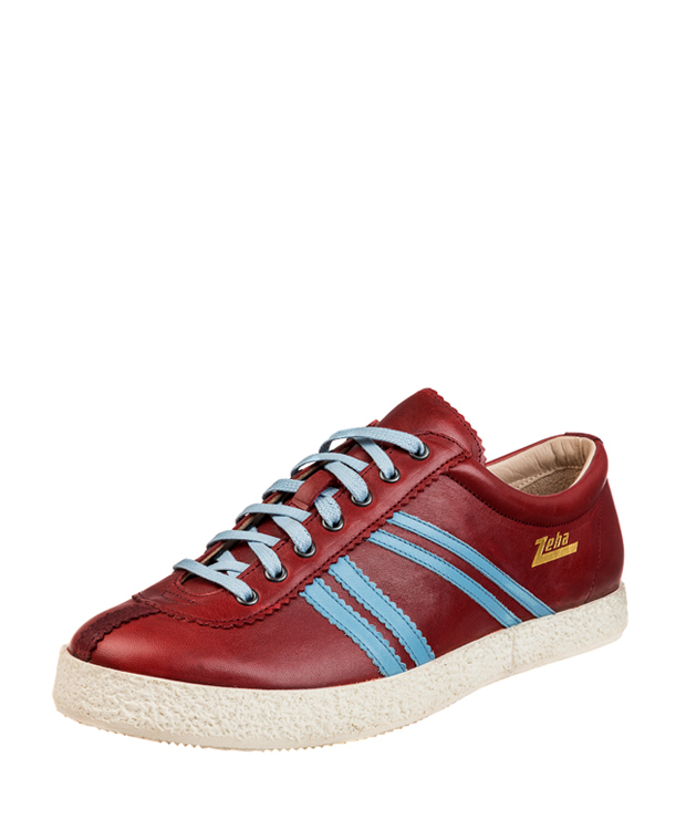 ZEHA BERLIN Streetwear Rekord calf leather Unisex bordeaux / light blue