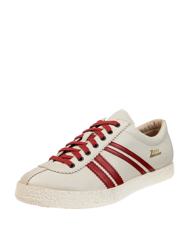 ZEHA BERLIN Streetwear Rekord calf leather Unisex cream / red