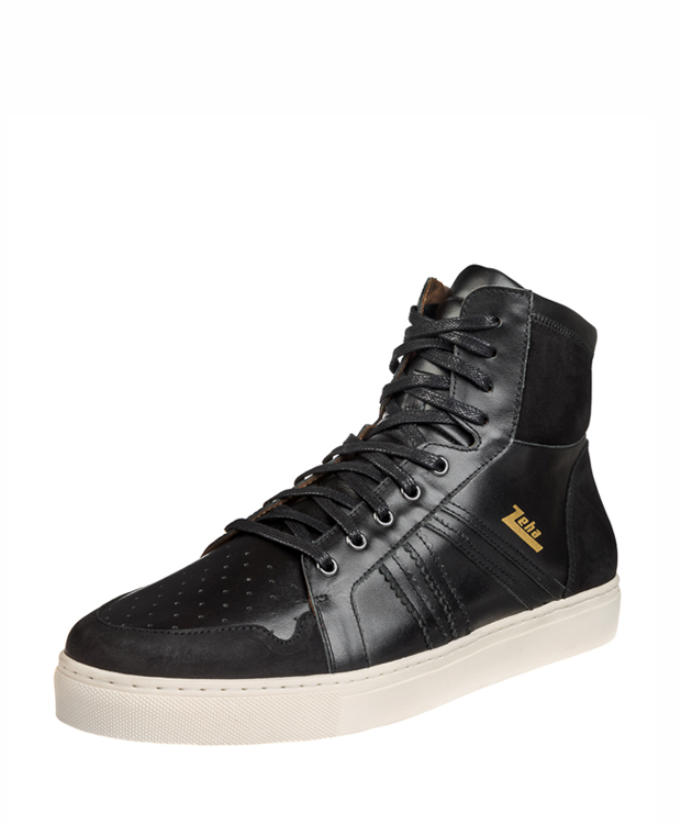 ZEHA BERLIN Streetwear Basketballer Kalbsleder Unisex schwarz