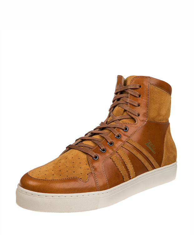 ZEHA BERLIN Streetwear Basketballer cow leather, flank Unisex cognac