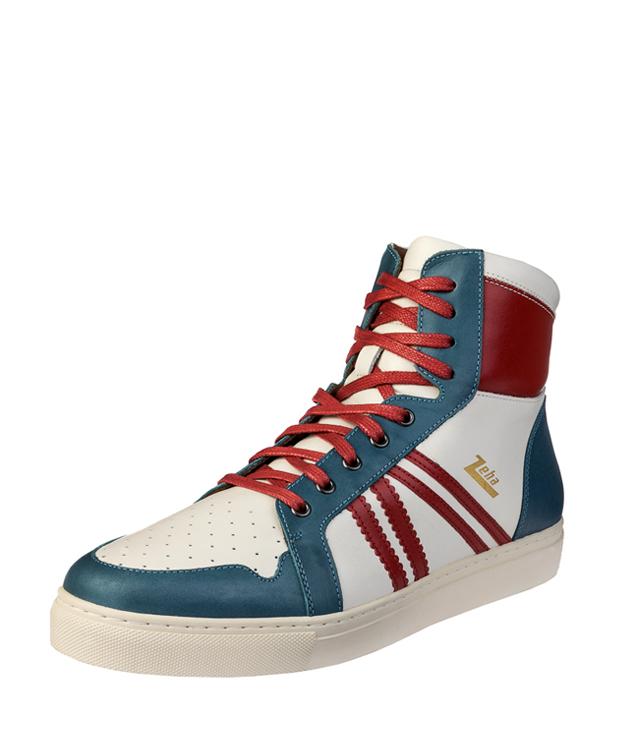 ZEHA BERLIN Streetwear Basketballer Unisex cremeweiß / rot / cyan