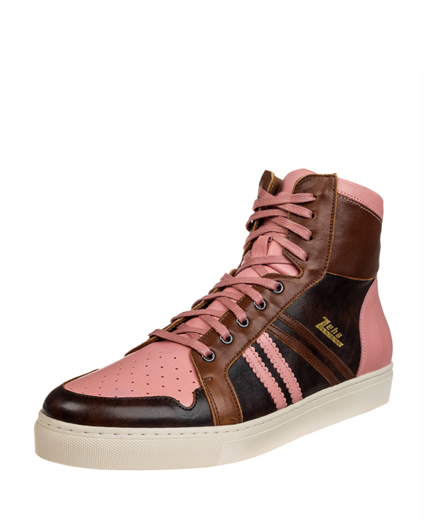 ZEHA BERLIN Streetwear Basketballer calf leather Unisex brown / pink / cognac