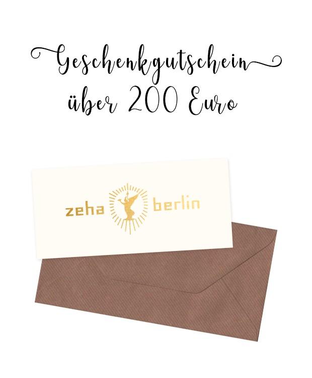 ZEHA BERLIN Gutschein im Wert von 200€ Unisex