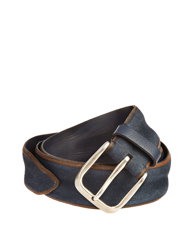 ZEHA BERLIN Accessoires Belts cow hide leather Unisex dark blue