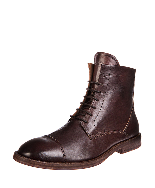 ZEHA BERLIN Urban Classics Men Lace-up ankle boot Cow leather, flank Men dark brown