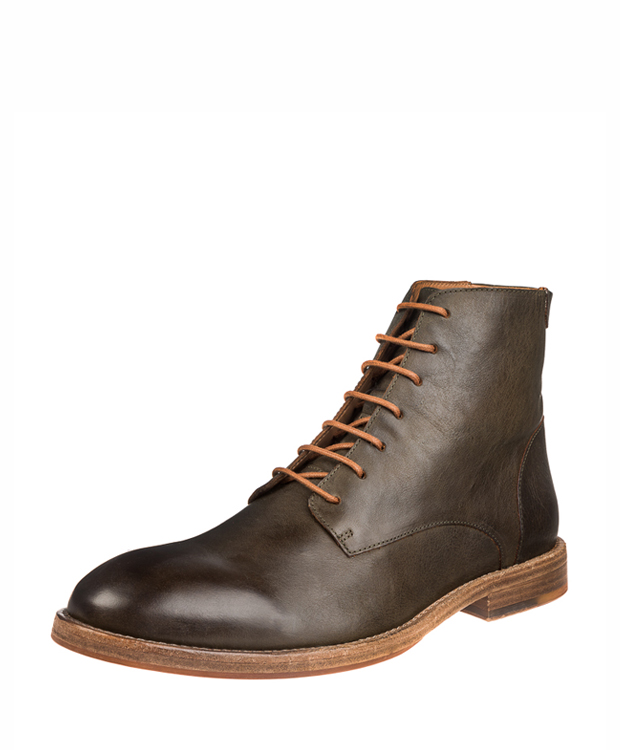 ZEHA BERLIN Urban Classics Ankle boot cow hide leather men olive-brown