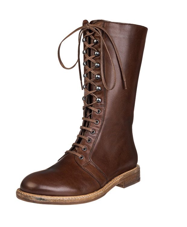 ZEHA BERLIN Urban Classics Women lace-up boot calf leather Women cognac