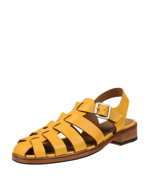 ZEHA BERLIN Urban Classics Sandale kalbsleder Frau gelb