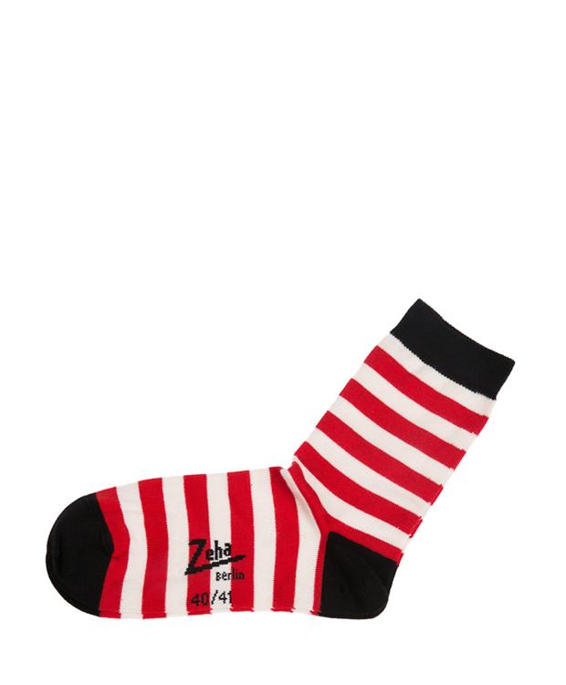 ZEHA BERLIN Accessories zeha socks Unisex red / cream / black