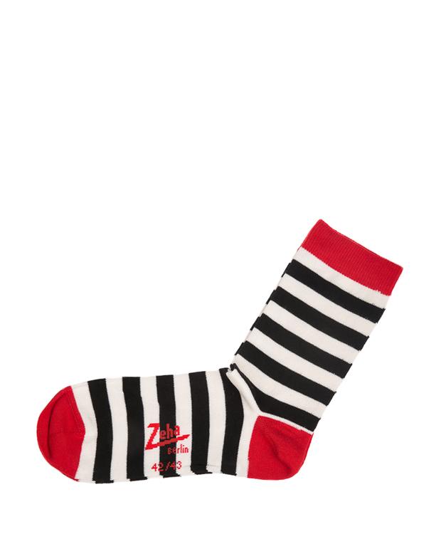 ZEHA BERLIN Accessories zeha socks Unisex black / cream / red