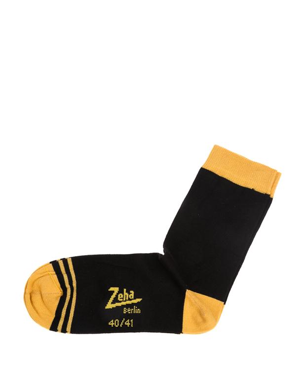 ZEHA BERLIN Accessories zeha socks Unisex black / yellow