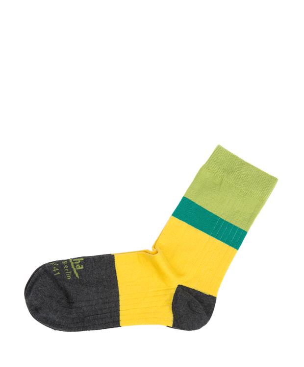 ZEHA BERLIN Accessories zeha socks Unisex grey / yellow / turquoise / green