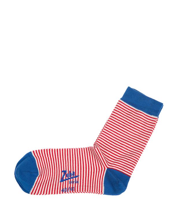 ZEHA BERLIN Accessories zeha socks Unisex red / cream / blue
