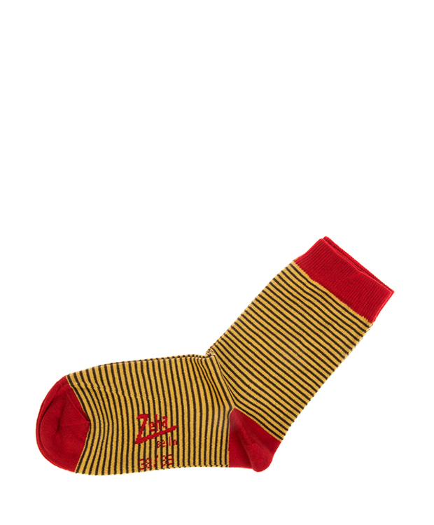 ZEHA BERLIN Accessoires Socks Unisex yellow / brown / dark red