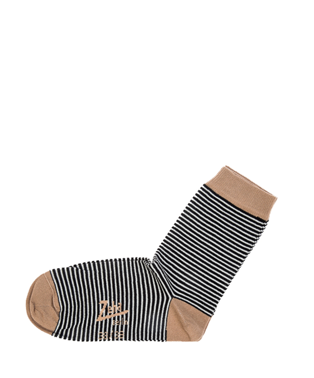 ZEHA BERLIN Accessoires Socks Unisex black / cream / light brown