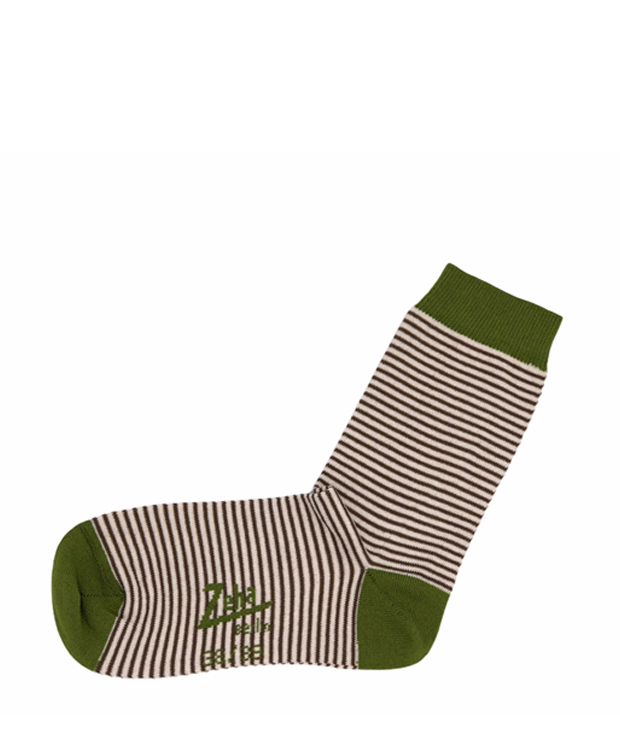 ZEHA BERLIN Accessories zeha socks Unisex brown / creme / green